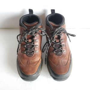 Boys Timberland Leather Hiking Ankle Boots Size 4